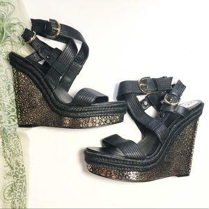 Donald J Pliner DMSX Michelle Platform Sandals 9.5